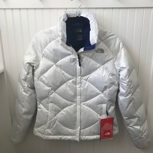 THE NORTHFACE WHITE DOWN JACKET - NWT